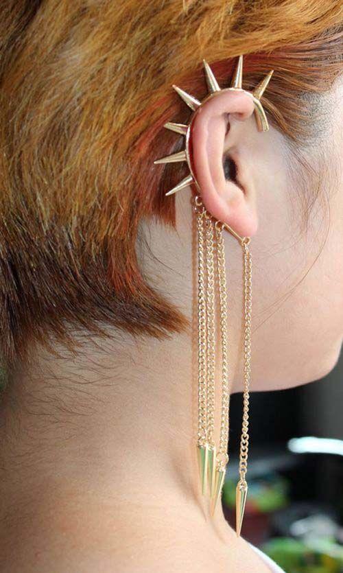 Gloednieuw Koop 1 Ontvang 2 Dames Spike Oor Manchetketting Stud Budded Rivet Punk Earbel Earbuff