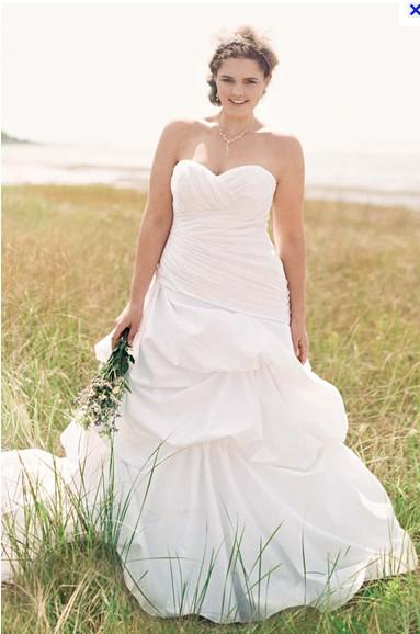 See larger imageCustom New  Dropped Waist Strapless Sweetheart Wedding Gown Style  . Plus Size Sweetheart Wedding Dresses. Home Design Ideas