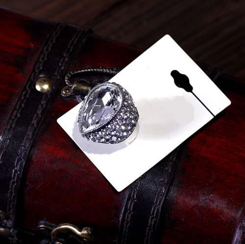 Freeship Fashion style! Anello grande a cupola Anello aperto a dimensioni regolabili Anello per dito da sposa in strass trasparente