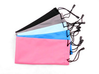 Wholesale Read Bag - Pure Colors Eyeglasses Bag Reading Glasses Cloth Pouch 50pcs Lot Free Shipment