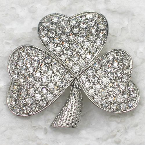 Wholesale Fashion Brooch Rhinestone Shamrock clover Pin brooches Costume Accessories jewelry gift C102010