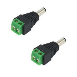 Wholesale Ac Dc Jack - 2.1 x 5.5mm DC Power Plug CCTV Camera Connector male jack UTP Power Plug Adapter Cable DC AC 2