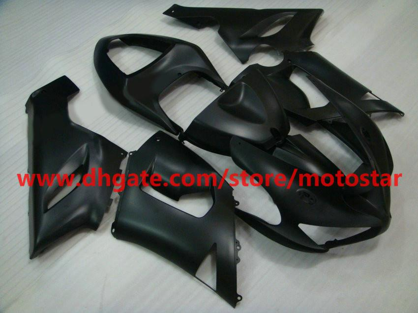 INJECTION carenados para Kawasaki zx6r carenado kit 2005 2006 ninja 636 ZX-6R ZX 6R 05 06 ZX6R venta caliente plana negro RX3A
