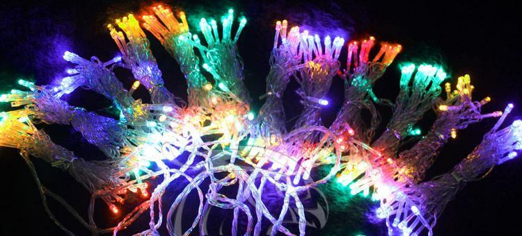 4 pcs 1000 LED lights 10*3m Curtain Lights,Christmas ornament light,Flash Colored Fairy wedding Decoration L102