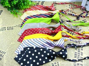 Wholesale 10pcs Fashion Polyester Silk Pet Dog Necktie Adjustable Handsome Bow Tie Necktie Grooming H106