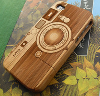 Wholesale Iphone 4s Cases Bamboo - New Genuine Natural Wooden Bamboo Hard Back Case Cover for iPhone 4 4S Camera M9