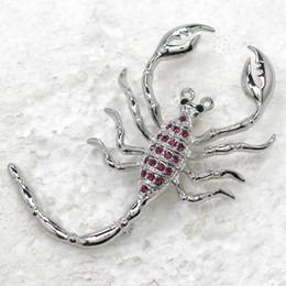 $enCountryForm.capitalKeyWord NZ - Wholesale Crystal Rhinestone Scorpion Pin Brooch Fashion jewelry gift C463