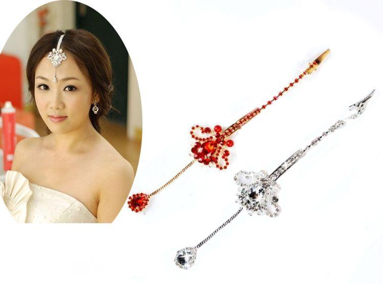 Artificial diamond pendants bridal jewelry head decorations bridal jewelry wedding jewellery