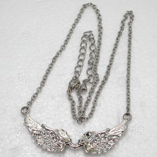 12 unids / lote venta al por mayor Rhinestone alas del ángel de moda collares pendientes ropa cadena joyería F141