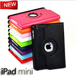 Wholesale - 360 Degree Rotary Litchi Leather Protective Case Cover For 7.9'' ipad Mini