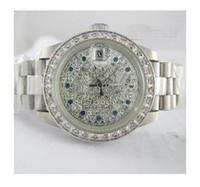 Venta al por mayor Relojes De Señora - Al por mayor - las mujeres bisel Señora de lujo de las mujeres relojes automáticos de diamante de la manera de señora reloj de acero