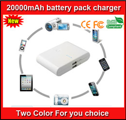 Power Bank Charger Packaging Canada - 20000mAh Universal Backup USB Battery Power Bank External Battery Pack Charger With Retail Package