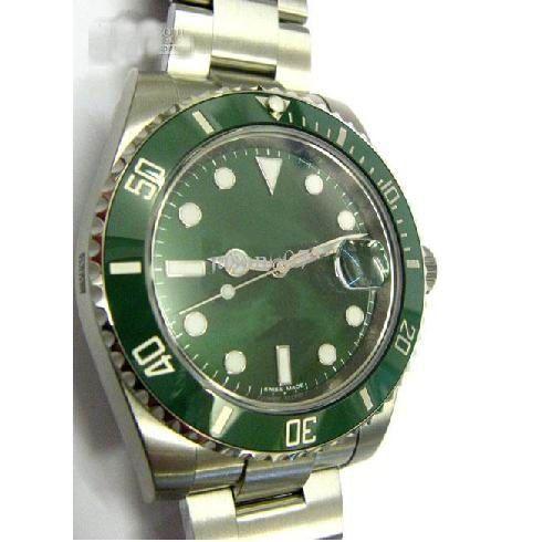 Toptan Satış - lüks erkekler mekanik saatler otomatik 50TH ANNIVERSARY yeşil kadran mens elbise saatler