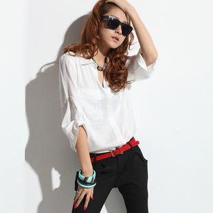 2694dcf8703b 2019 Fashion New 2013 Lady Silk Blouse Summer New Korean Commuter Loose  White Blouse From Tianshidejiaoyin88