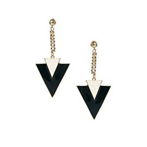 Brand New Fashion triangle plaqué or dangle punk boucles d'oreilles / cadeau de Noël prix Usine livraison gratuite