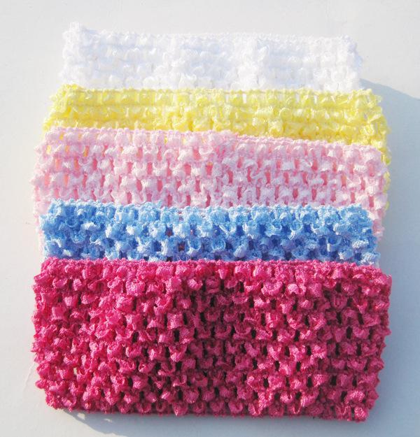 Wide Crochet Baby Headbands Elastic Hairbands Handmade Baby ...