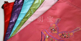 Wholesale Drawstring Underwear - Fine Embroidered Bra Bag Lingerie Underwear Travel Bag Storage Pouch Protective Case Satin Fabric Drawstring Reusable Gift Packaging Bags