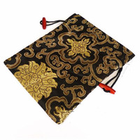 Wholesale Silk Gift Pouches Large - Extra Large Decorating Silk Fabric Birthday Gift Packaging Bags Wedding Drawstring Luxury Candy Tea Lavender spices Storage Pouch