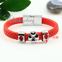 Wholesale Wholesale Guys Jewelry - guys leather bracelets charm charm bracelet Handmade bracelets fashion jewelry