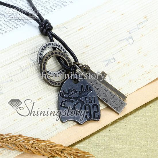 Wholesale Lacertid Mens Gothic Jewelry Antiques Style Necklaces Mens