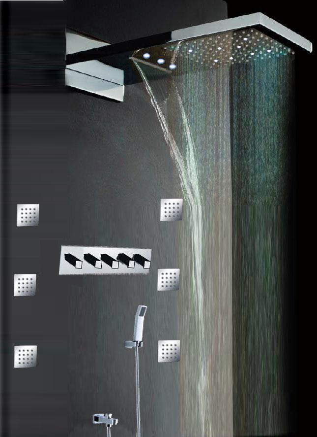 2018 230 554 30mm Led Shower Set With Shower Jets From