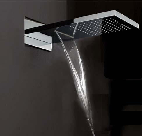 cheap rain shower head. See larger image Waterfall Shower Head with Dual Rain And Functions 3