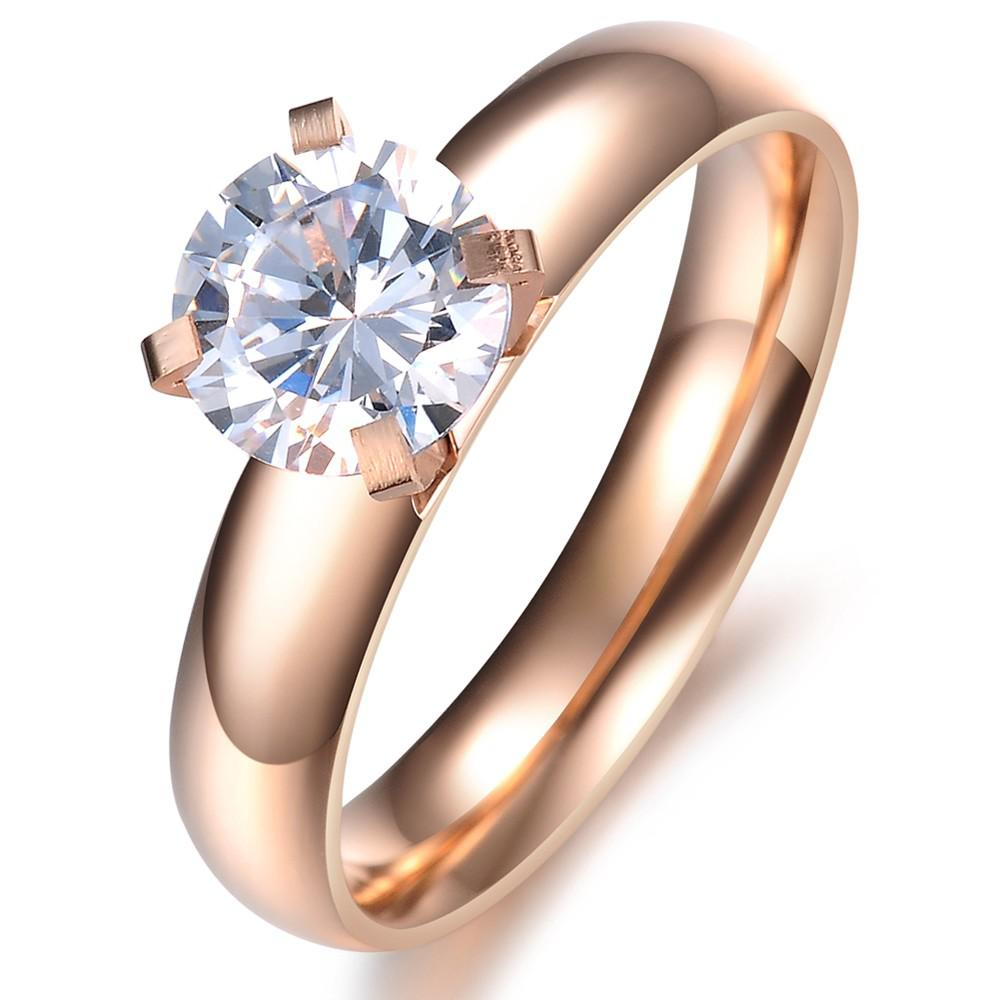 Fashion Jewelry Rings Rose Gold Plating Charming Ring For Laty With