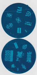 Argentina Envío gratis 100 unids / lote redondo Nail Art Stamp placa de imagen placa de impresión plantilla # 034 Suministro