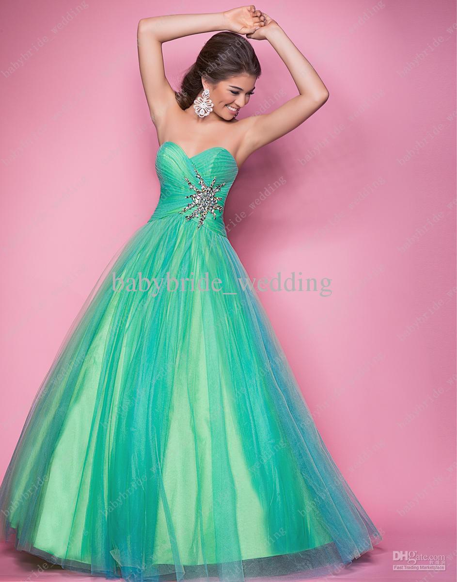 Candy Pink Sky Orchid Lemon Mint Sky Alexia 5205 Prom Dress Crystal ...