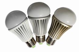 Bubble Ball Bulb Lamp Canada - Free Shipping High power Energy saving Ultra bright epistar 5W 7W LED Globe Bulb ball Lamp bubble light 110V 220V white E27Aviation aluminum