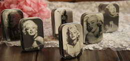 Wholesale Marilyn Monroe Storage Boxes - Free Shipping!12pcs lot Classic Collection Marilyn Monroe Mini Tin Storage Box Retro Jewelry case Iron Pill Case