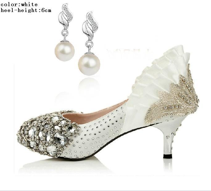 2色3種類ダイヤモンド高品質輝くパールアッパースティレットヒールウェディングパンプスパーティーシューズ