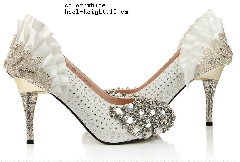 3 Kinds Diamond High Quality Shinning Pearl Upper Stiletto Heel Wedding Pumps Party Shoes