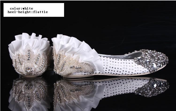 2 Cores 3 Tipos de Diamante de Alta Qualidade Shinning Pérola Superior Stiletto Heel Bombas De Casamento Do Partido Sapatos