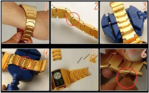Las herramientas de Watche reloj ajustan el regulador de cadena de reloj reparan y eliminan el pin de enlace de banda de reloj ajustan los relojes