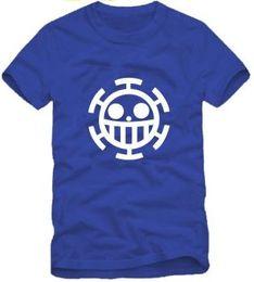 Wholesale Men S Polka Dot Shirt - Free shipping japanese anime One Piece Anime T-Shirt Trafalgar law printed Tee shirt Summer t-shirt 100% cotton 6 color