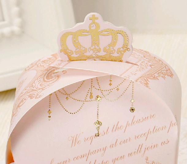 Special Price Wholesale Crown Wedding Favor Candy Boxes
