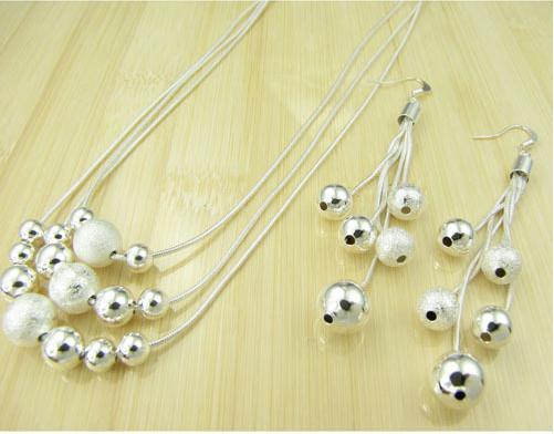 DMSS122 venta caliente de la joyería plateada de plata esterlina de la venta de mujeres, conjunto de pendientes de placa de plata de alta calidad 925