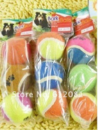 Wholesale Toy Train Packaging - Free shipping Best dog chew toys tennis ball training ball Dog toy with package