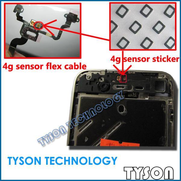 Power Flex Sensor Flexkabel Aufkleber geschirmter Schwamm mit Dichtungskissen für iPhone 4 4g
