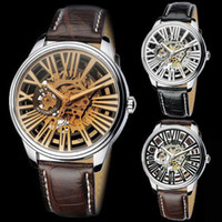 Wholesale Watch Eyki Mechanical Automatic - Free Shipping !Fashion cool New Original EYKI Top Brand Clock Men Skeleton Automatic Watch 3 Style