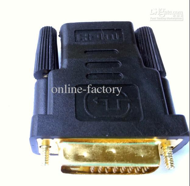 DVI To HDMI (DVI 24+1/24+5 Male to HDMI 19Pin) Female M-F Adapter Converter for HDTVNewRealm