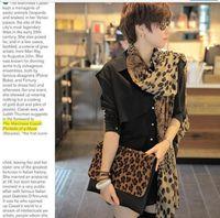 Wholesale Scarf Leopard Color - Leopard print Scarf shawl warp mixed color 15pcs lot #2699