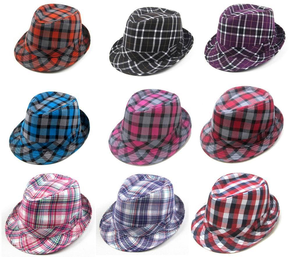 acheter mode plaid color fedora chapeaux adultes brim avare casquettes chapeau jazz classique. Black Bedroom Furniture Sets. Home Design Ideas