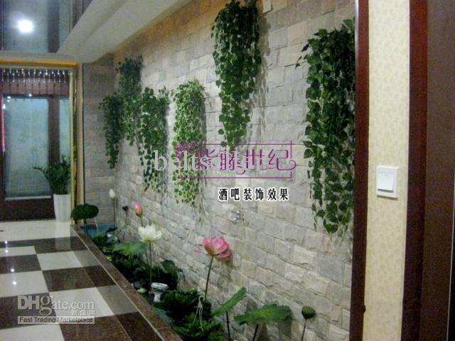 Folha de Simulação Plantas de Seda Artificial videiras de Plantas Verdes festa de casamento home Decor frete grátis