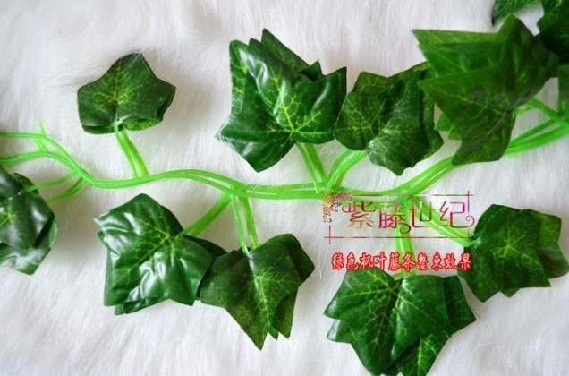Simulazione foglia di seta artificiale piante viti di piante verdi festa di nozze home decor spedizione gratuita