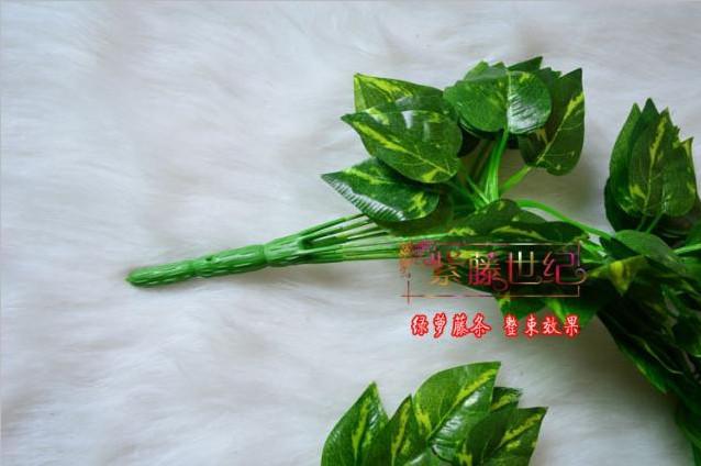 シミュレーションの葉の人工シルク植物の緑の植物の結婚披露宴の家の装飾送料無料