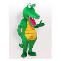 grünes dinosauriermaskottchen großhandel-Brandneue Dinosaurier Maskottchen Kostüm Erwachsene Größe Grün A124