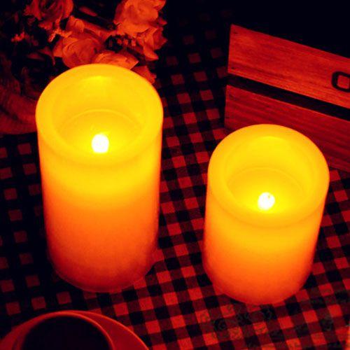 8 Stück LED flammenlose Stumpenkerze Paraffin Batterie elektronische Hochzeit Dekoration