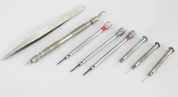 2 attrezzi di riparazione dell'orologio di alta qualità di stile regolano gli attrezzi Strumenti di manutenzione dell'orologio Riparano i cinturini dell'orologio